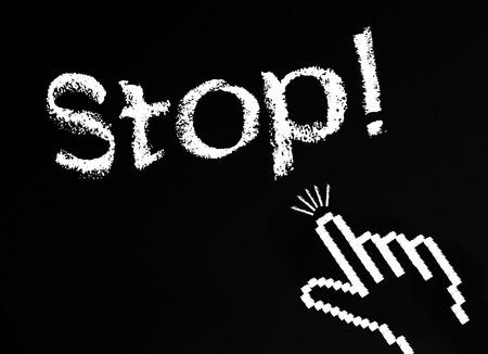 cut off: Stop