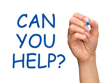 you can: ¿Puedes ayudar a