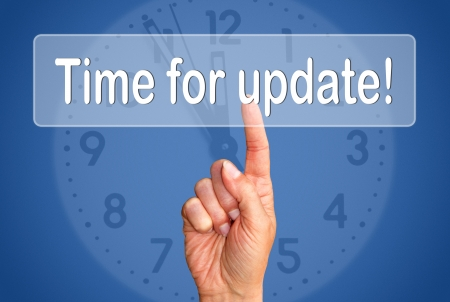 updates: Time for update Stock Photo