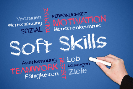 Soft Skills - Business Concept - German Фото со стока