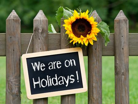 vacancier: Nous sommes en vacances Banque d'images