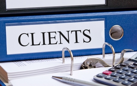 bookkeeping: Clients Stock Photo