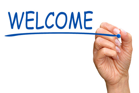 new: Welcome Stock Photo