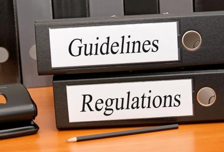 Richtlijnen en verordeningen Stockfoto