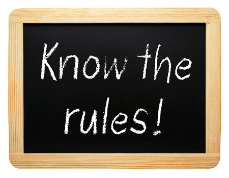 know how: Know the rules Stock Photo
