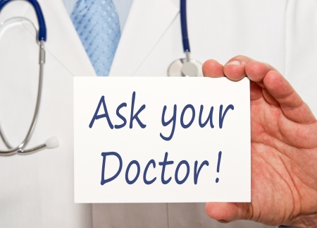 outpatient: Ask your Doctor   Stock Photo