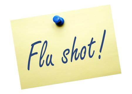 a shot: Flu shot