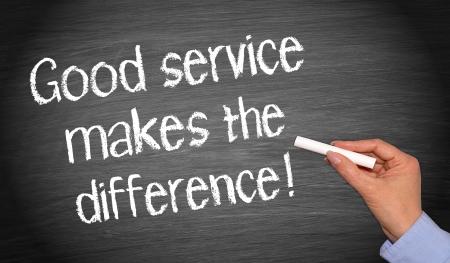 좋은 서비스는 차이가 있습니다