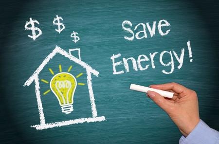 eficiencia: Ahorro de Energ�a Foto de archivo
