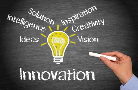 innovation word: Innovation - Business Concept Stock Photo
