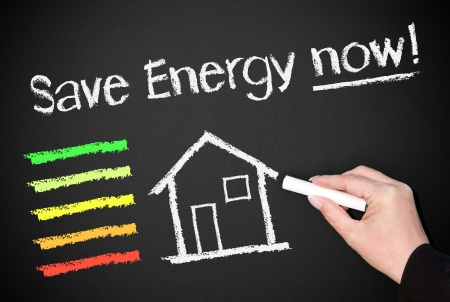 energy saving: Save Energy now   Stock Photo