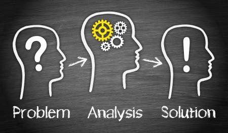 問題と解決策 - ビジネス コンセプト 写真素材