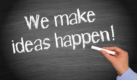 business project: We make ideas happen Stock Photo