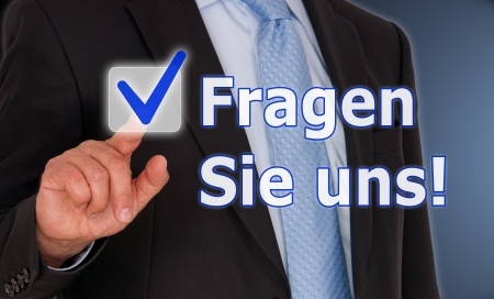 Ask us - German Language Stock Photo - 24395756