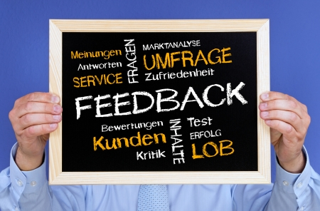 Feedback - German Business Concept photo