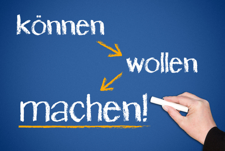 we can - we will - we do - German Language photo