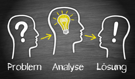 Problem - Analysis - Solution - German Concept Stock Photo - 24526169
