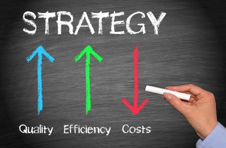 eficacia: Estrategia de Negocios Foto de archivo