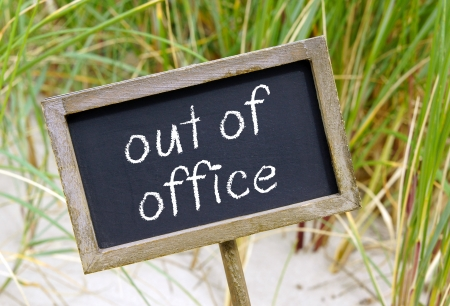 out of office Reklamní fotografie - 24822383