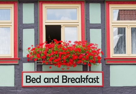 bed and breakfast: Bed and Breakfast Stock Photo