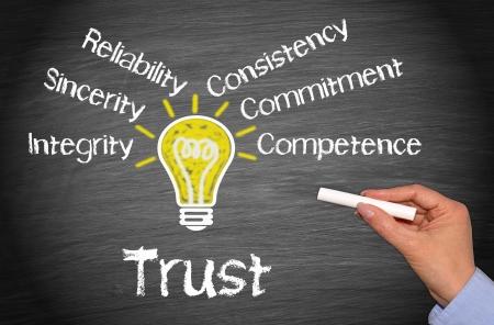 Trust - Concepto de negocio Foto de archivo