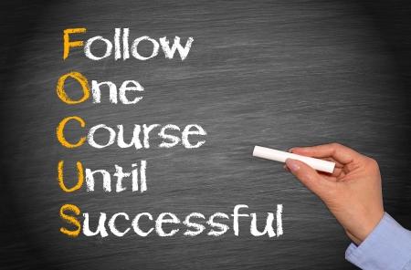 FOCUS - Koncepcja sukcesu w biznesie Zdjęcie Seryjne