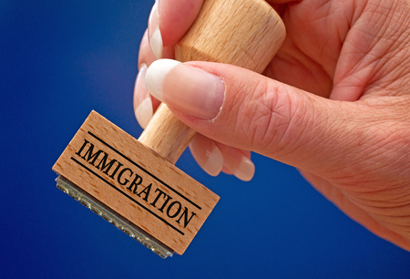 emigration: Immigration Stock Photo
