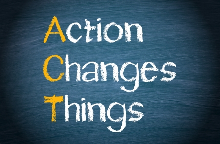 行為 - アクションは、物事を変更します。 写真素材