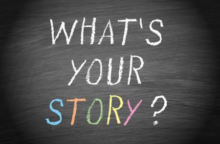 Was ist Ihre Geschichte Standard-Bild - 24981913