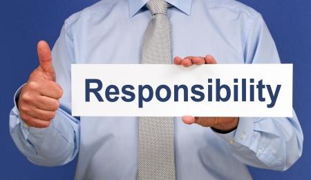 Verantwortung Standard-Bild