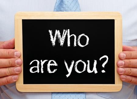 personalidad: ¿Quién es usted Foto de archivo