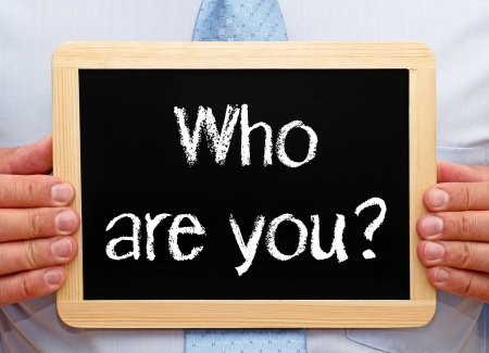 personal identity: �Qui�n es usted Foto de archivo
