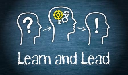 lider: Aprender y plomo Foto de archivo