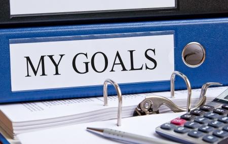My Goals Stock Photo
