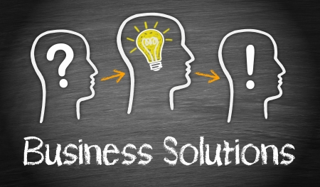 business solutions: Business Solutions Stock Photo