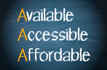 affordable: Available - Accessible - Affordable