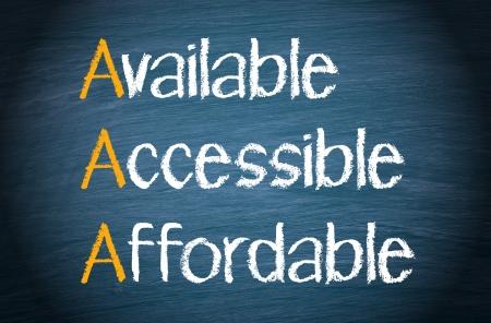 Beschikbaar - Toegankelijke - Betaalbare