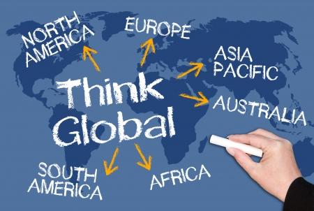글로벌에게 생각 스톡 콘텐츠