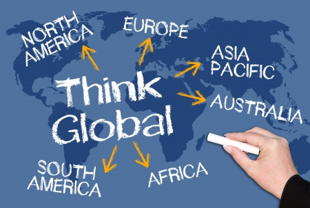 global innovation: Think Global Stock Photo