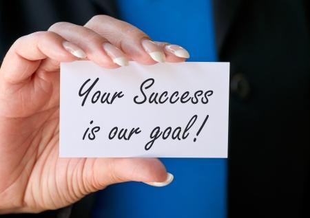 slogan: Su éxito es nuestro objetivo