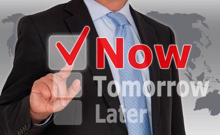 Do it Now - Business Concept