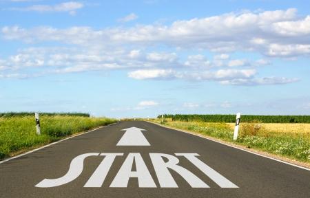 Starten Stockfoto