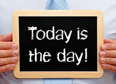 test deadline: Today is the day Stock Photo