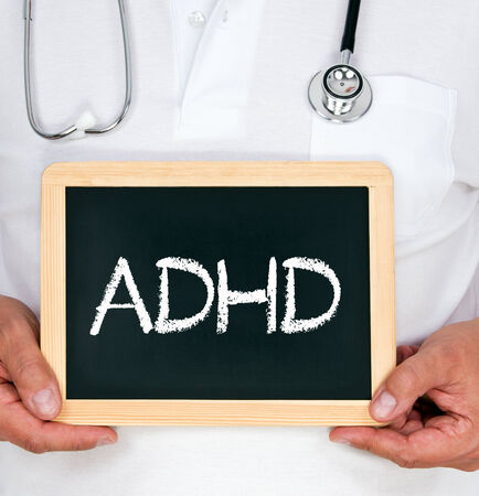 ADHD - Attention deficit hyperactivity disorder Stock Photo