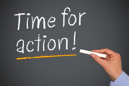 Time for action Stock Photo - 25317567