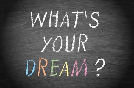 Quel est votre rêve Banque d'images - 25317575