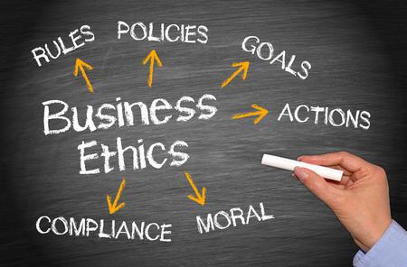valores morales: �tica en los Negocios Foto de archivo