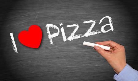 pizza delivery: I love Pizza Stock Photo