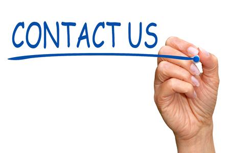 blau: Kontaktieren Sie uns