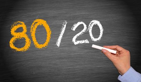 80 20 regel - Marketing Concept